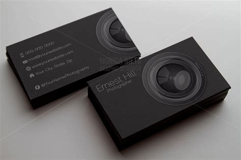 printable photography business card template photographer