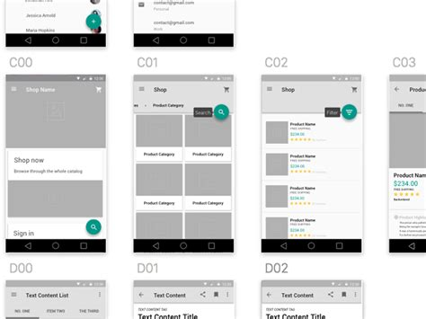 material design app kit free responsive wireframes sketch freebie download free