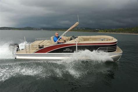 lowe deck boats reviews lowe infinity 270 pontoon deck boat magazine