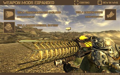 weapon mods expanded fallout new vegas weapons images