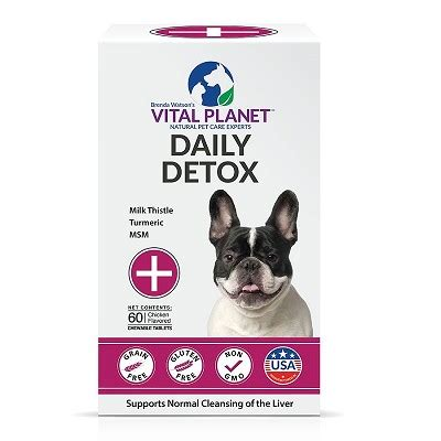 Planet Detox Reviews by Vital Planet Daily Detox Chewable Tablets For Dogs 60
