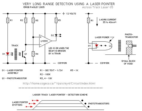 laser light detector circuit basic laser pointer circuit led and light circuit