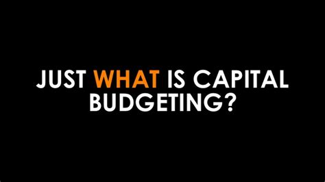Capital Budgeting Ppt Mba Notes by Capital Budgeting Discounted Flow Analysis