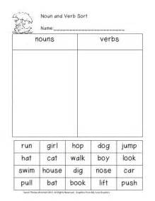 grade 1 sample worksheets on nouns verbs and adjectives