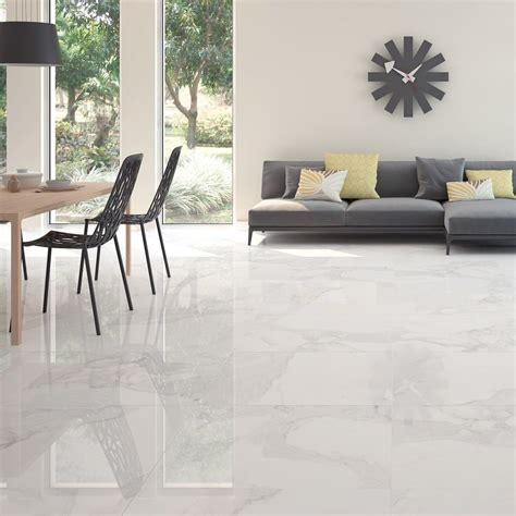 Italia Calacatta   Polished Tiles   Porcelain Superstore