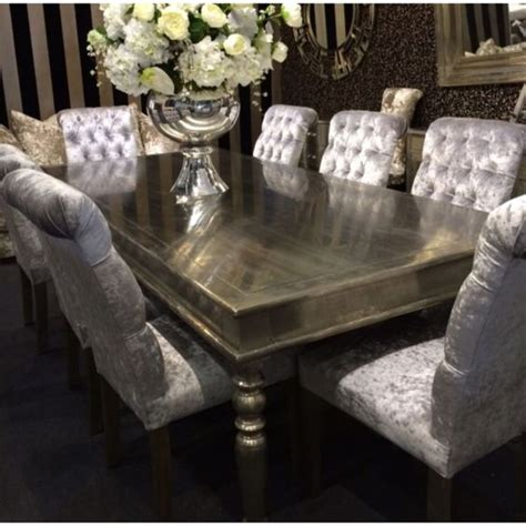 velvet dining chairs and table gorgeous dining table and crushed velvet chairs dining