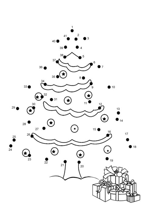 christmas activities for kids free printable tree dot to dot