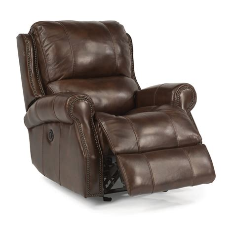 discount leather recliner flexsteel 1533 54p miles leather power gliding recliner
