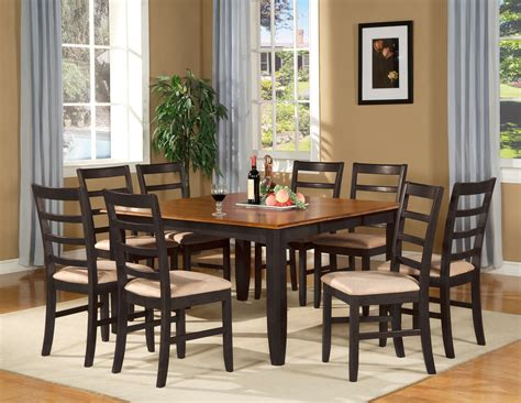 "Parfait 9 Pc Square Gathering Dining Table Set 54""x54"