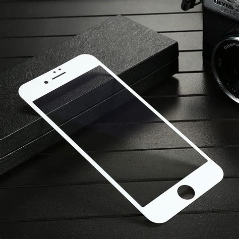 Tempered Glass 4d Iphone 7 8 4 7 White Back Jete folie protectie 4d white glass pro tempered glass 0