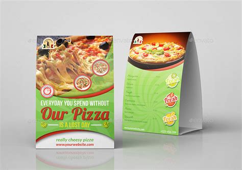 pizza restaurant table tent template by owpictures