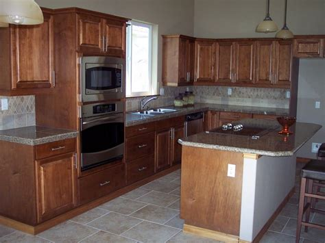 Kitchen Counter Cabinet by Granite Counter With Wood Cabinets Granite