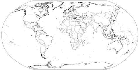 simple world map coloring page map of the world coloring page for kids