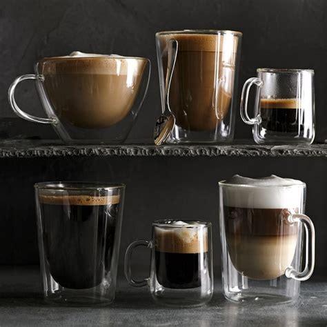 Doormates Double Wall Glass Coffee Mugs Williams Sonoma