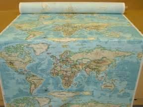 Fabric World Map by Prestigious Atlas World Map Azure Prestigious Designer Fabric