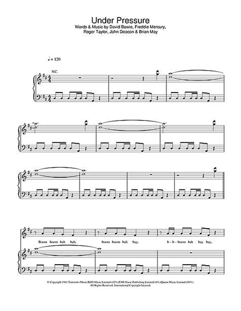 piano tutorial under pressure under pressure sheet music by david bowie queen piano