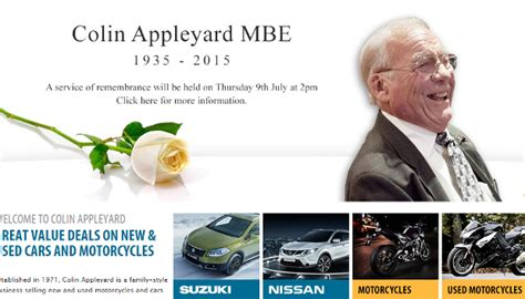 Colin Appleyard Suzuki Tributes Paid To Suzuki Veteran Colin Appleyard Mbe
