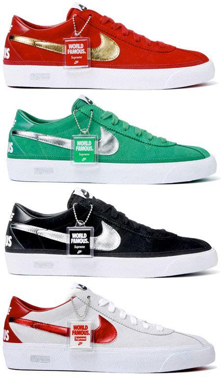 nike sb supreme bruin nike sb bruin par supreme sneakers fr