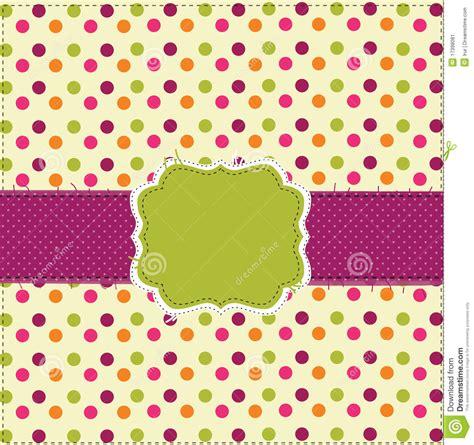 desain gamis polkadot polka dot patchwork design card stock vector