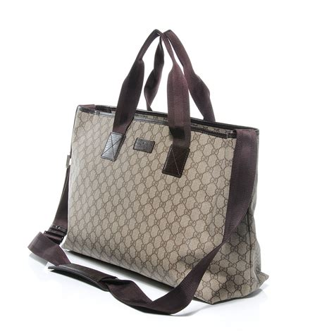 Gucci Travel Tote by Gucci Monogram Coated Canvas Travel Tote 53076