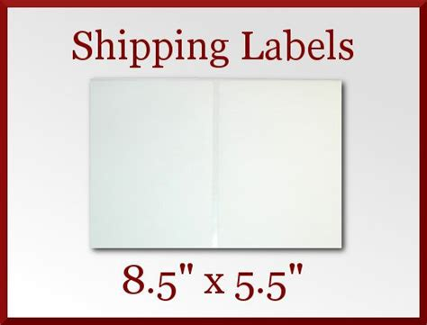 printable usps labels 50 blank self adhesive shipping labels 8 5 x 5 5 paypal