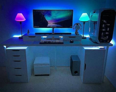 led desk light strip computer desk led lights best 25 led light strips ideas on