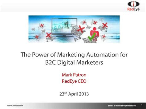 The Power Of Digital Marketing the power of marketing automation for b2c digital marketers redeye