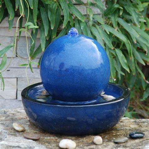 veronica ceramic sphere tabletop water feature