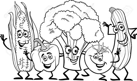 cartoon white pics for gt fruits and vegetables cartoon black and white