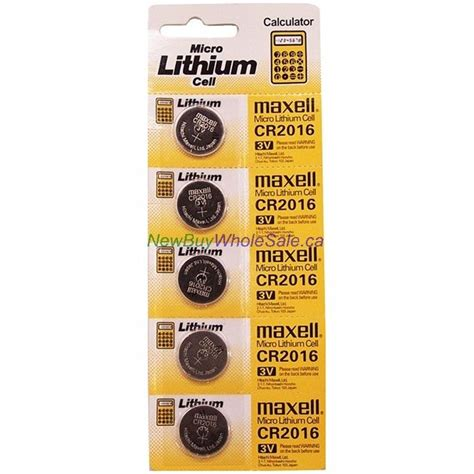 Maxell Cr2016 Button Cell Coin Battery Murah buy maxell lithium coin button batteries cr2016 wholesale canada cheap discount price