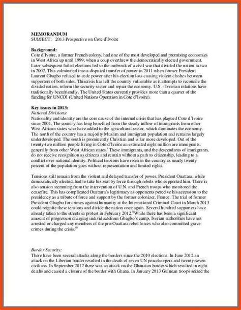 policy change memo template policy memo format moa format
