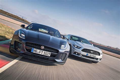 F Type Autobild by Ford Mustang Vs Jaguar F Type Bilder Autobild De