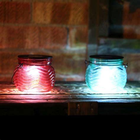 bright garden solar table lights red buy   qd