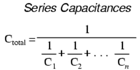 capacitance for capacitors in series series and parallel capacitors capacitors electronics textbook