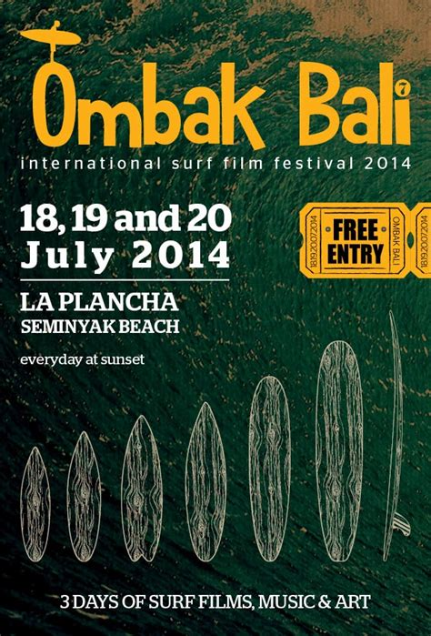 ombak film festival ombak bali international surf film festival 2014 bali