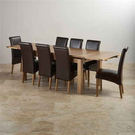Dorset Oak Dining Set 6ft Table With 8 Chairs Oak Extending Dining Table And 8 Chairs