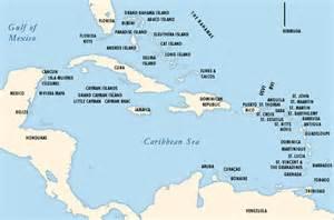 map of florida and caribbean caribbean featurecom