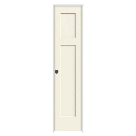 Jeld Wen 18 In X 80 In Craftsman Vanilla Painted Right Jeld Wen Interior Door Sizes