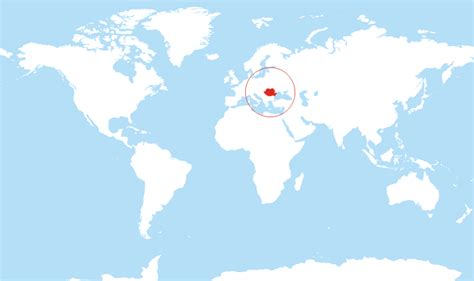 romania on the world map where is romania located on the world map