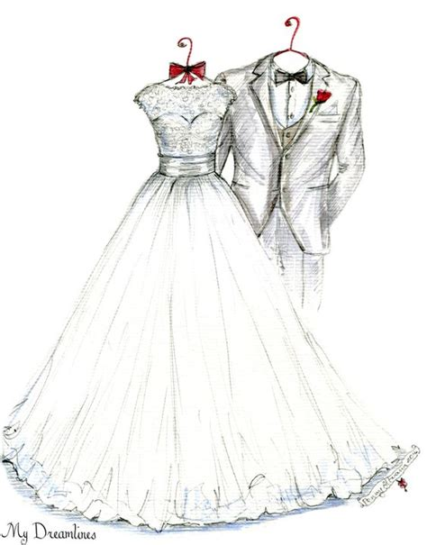 Wedding Sketch by Wedding Dress Sketches And Wedding Dress Sketches On