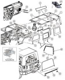 2010 Jeep Wrangler Parts Interactive Diagram Jeep Wrangler Jk 4 Door Soft Top