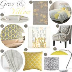 Yellow And Gray Home Decor by Gray And Yellow Bedroom Decor
