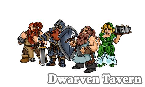 printable heroes dwarf dwarven tavern paper miniatures by printableheroes on