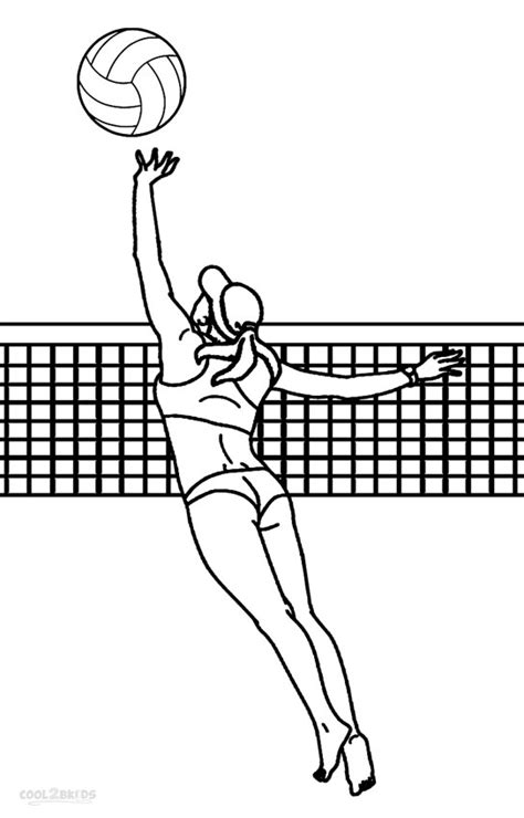 printable volleyball printable volleyball coloring pages for kids cool2bkids