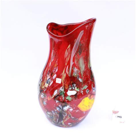 vaso rosso vaso rosso vetro di murano
