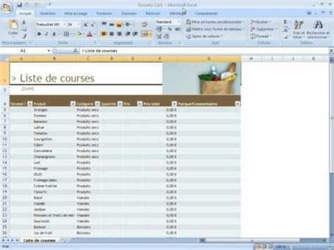 Modele Liste De Course