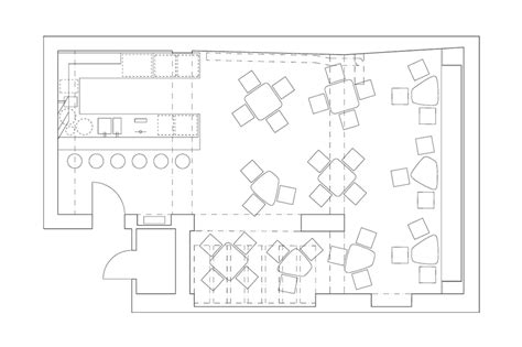 floor plan bar bar aquarium next level studio archdaily