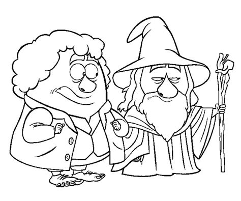 free coloring pages of hobbit