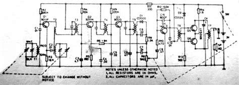 transistor radio schematic diagram philips d1018 transistor radio