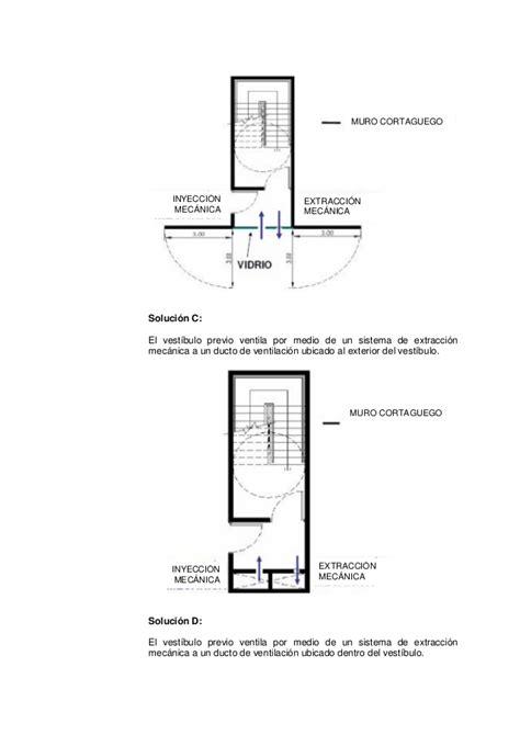 vestibulo independencia aseos condiciones generales dise 241 o escaleras evacuacion